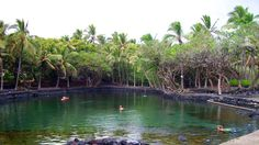 Ahalanui pond (thermal pool) in Pahoa, Big Island Hawaii. Brian and I walked here from MacKenzie state park, until a man stopped and gave us a ride. Before we got picked up we were threatened by wild pigs. Seriously.
