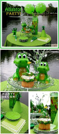 Gator birthday party table setting gator boys birthday party birthday party ideas alligator filmwisefo