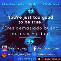#cancionesingles #ingles #yeseningles #cancion #canciones #canciondeldia #inglés #english #cancioneseningles #bestofover #instagood Movies, Movie Posters, Instagram, Truths, Learning English, Songs, Films, Film Poster, Popcorn Posters