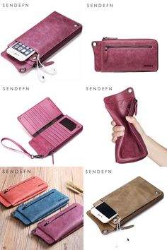 [Visit to Buy] SENDEFN Wallet New Fashion Wallet Women Genuine Leather Wallet Brand Women Purse Long Purse Coin Purse Money Bag For iPhone7S  #Advertisement