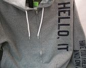 IT Hoodie Have You Tried Turning It Off And On Again