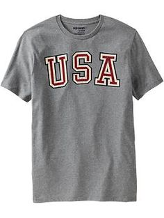 "Men's ""USA"" Graphic Tees 