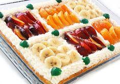 yetur'la lezzet kareleri.com: gazozlu - meyvalı tepsi pastası