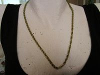 """light goldtone used chain necklace 22""""long in good condition"""