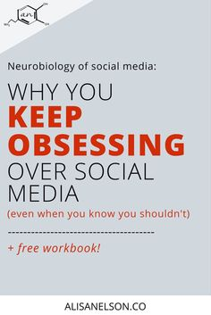 Why you keep obsessing over social media even when you know you shouldn't (+ free workbook) - Alisa Nelson When You Know, Knowing You, How To Handle Stress, Effects Of Stress, Human Behavior, Self Awareness, Do You Feel, Best Relationship, Stress Management