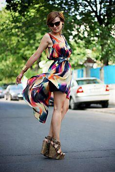 I salute you, dear summer I Salute You, My Kind Of Love, Blouses For Women, Ideias Fashion, Wrap Dress, Street Style, Stylish, My Style, Street Fashion