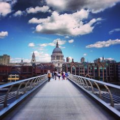 Millennium Bridge in London. Was featured (and destroyed via CGI) in a scene in the sixth Harry Potter film.