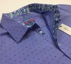 Robert-Graham-Men-Vintage-Geometric-Patterned-Short-Sleeve-Jacquard-Sport-Shirts