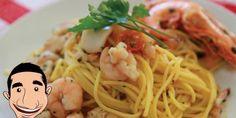 Italian Seafood Pasta Recipe (Spaghetti alla Chitarra) from Vincenzo's Plate - EverybodyLovesItalian.com