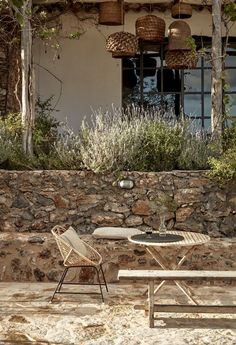 tinekhome products are a part of the decor at La Granja, Ibiza.