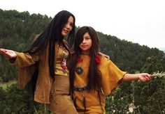 Junal Gerlach -Top Native Model/Actress  with her daughter Ina Kings-Modeling Tribal Impressions Hanna Top, Matching Fringed Skirt and Five Layer Minnetonka Zipper Boots! Review The Collections off of: http://www.indianvillagemall.com