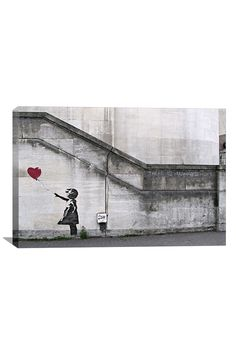 """Banksy """"There Is Always Hope"""" Balloon Girl Canvas Print"""