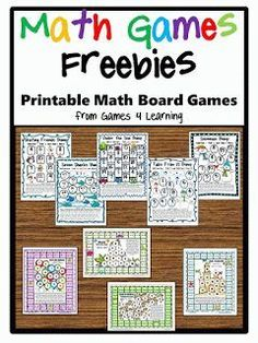 Math games: FREE math math board games packet.