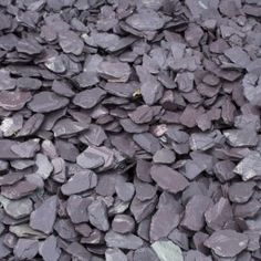 Blue Slate 40mm Gravel Chippings Bulk Bag