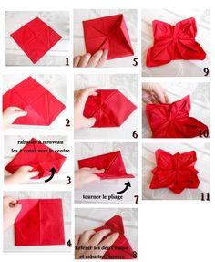 pliage de serviette : fleur de lotus: http://www.plusdebonsplans