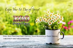May Your 1st Day of Spring Bring Profits Your Way! Spring is the unofficial day to begin lining up clients for their summer print needs especially in retail. Remember at Zoo Printing our customer service is always here to help you with any questions you may have about any of our wholesale print products.  Zoo Printing Wholesale Printing. Sign Up Free Today! http://zooprint.us/6ISkL #Printing #GraphicDesigners #WholesalePrinting #ZooPrinting