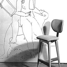 Tall three legged stool designed by Clara Porset for the bar at the Cine Paris, Mexico City 1954. #claraporset #claraporsetfurniture #cineparismexicocity #mexico1950 #mexicanmodernism #mexicanmodernity #mexicanmidcentury #midcenturymexico #midcentury #midcenturymodern #midcenturydecoration #midcenturymodernchairs #chairlove #chairporn #chairsnobs #houseofblusandiego #houseofblu #20thcenturydesign #20thcentury #1950s #1stdibs