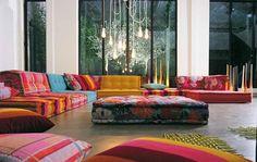 Bright Modular Sofas: Mah Jong by Roche Bobois