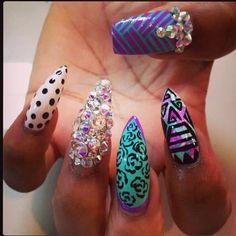 crazy jewel nail art #stylescavenger