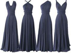 long bridesmaid dresses, navy blue bridesmaid dress, convertible bridesmaid…