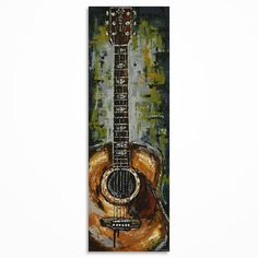 Guitar painting Acoustic Guitar art Music art by MagdaMagier