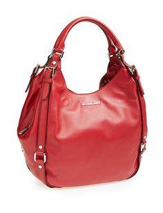 MICHAEL MICHAEL KORS Large Bedford Hobo Shoulder Bag In Scarlet