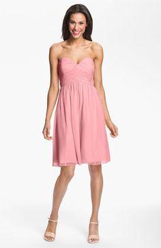 Donna Morgan 'Morgan' Strapless Silk Chiffon Dress (Regular & Plus) | Nordstrom Hi. Love this.   @suzzania  @Brittany Moody Harris