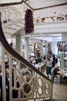 Bill's Holborn - Join Us for Breakfast, Lunch & Dinner Wrought Iron Staircase, Winding Staircase, Restaurant Design, Restaurant Bar, Banisters, Great View, Motel, Om, Interiors
