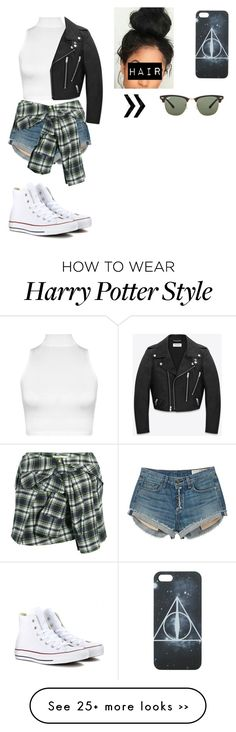 """date with zayn"" by kasswass on Polyvore featuring WearAll, rag & bone, Faith Connexion, Yves Saint Laurent, Converse and Ray-Ban"