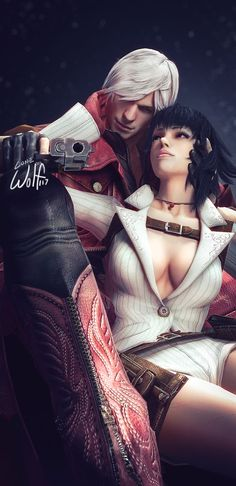 Dante & Lady, Devil May Cry 3 edit by Lone Wolf 117 #devilmaycry #dante #lady #game #cosplay #cosplayclass