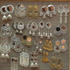 Silver oxidised Indian earrings - Famous Last Words