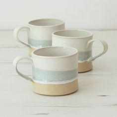 Handmade ceramic mug pottery mug grey and by MeganLouiseCeramics