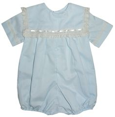 Heirloom Boy's Bubble OR Button On with Square Collar with Lace and Small Ribbon pp8007 by ChildrensCottage on Etsy https://www.etsy.com/listing/204315915/heirloom-boys-bubble-or-button-on-with