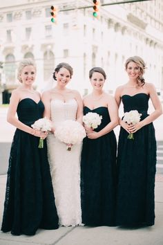 Strapless Black Dresses | photography by http://www.blainesiesserphotography.com/