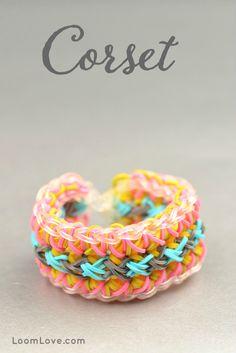 How to Make a Rainbow Loom Corset bracelet.