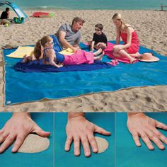 """CGear Giant Sandless Beach Mat - Did you get that part """"SANDLESS""""?  Yes, please!!"""