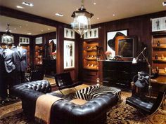 New York: the clubby Ralph Lauren boutique at Bergdorf's