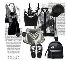 """Untitled #362"" by vasso960 ❤ liked on Polyvore featuring Topshop, WithChic, FitFlop, Illesteva and New Look"
