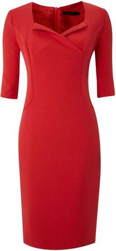 Kenneth Cole Tux Collar Dress