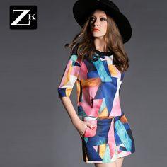 Primăvară ZK2015 pe noul primăvară noul imprimare pantaloni Slim costum de moda doamnelor costum petrecere a timpului liber costum