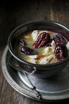 Chicken, Red Dates and Ginger Soup is one of my favorite dishes to make for new mothers as it is deeply warming and makes for a hearty meal for the whole family.