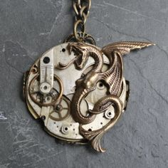 Brilliant Aether - La Vibria Steampunk Dragon Necklace and sold out ! *pout*