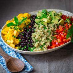 Black Bean Quinoa Salad With Mango And Avocado Recipe on Yummly