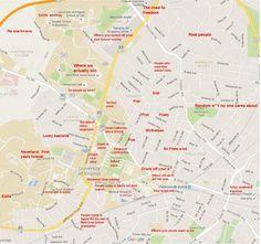 University of Virginia: http://theblacksheeponline.com/virginia/the-judgmental-map-of-charlottesville