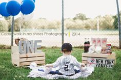 First birthday photography first birthday baseball themed birthday Come walk in my shoes