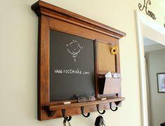 Solid Maple Hardwood Home Decor Wall Hanging Mail von Rozemake