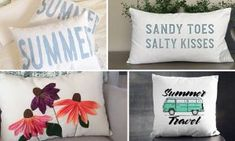 Check out our new collection of home decor featuring 15 Awesome Handmade Summer Pillow Designs For Your Patio. Entrance Design, Mason Jar Crafts, Mason Jars, Diy Home Decor Projects, Recycle Plastic Bottles, Cool Diy, Pillow Design, Wood Crafts, Christmas Crafts