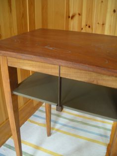 My latest work,folding occasional table forPC inspired by Art Deco style : 山梨野 芳樹の木製 インテリア&オーダー家具 達