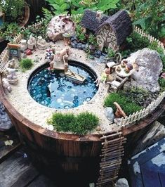 A Lakeside Cottage Fairy Garden Amazing DIY Mini Fairy Garden for Miniature Landscaping 3 Incredible Miniature Fairy Gardens To Inspire – HomeGardenMagz Do you like 50 Beautiful DIY Fairy Garden Design Ideas ? Have you heard of those adorable Fairy gard Mini Fairy Garden, Fairy Garden Houses, Diy Garden, Gnome Garden, Garden Bed, Fairy Gardening, Diy Fairy House, Fairies Garden, Gardening Books