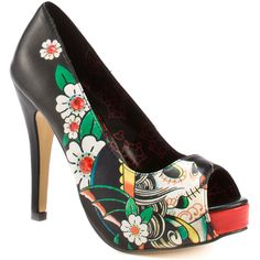 """Iron Fist """"Day of the Dead"""" peep-toes"""